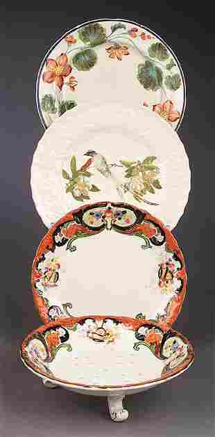 A Continental Porcelain Footed Straine