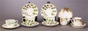 A Group of Porcelain Demitasse Cups an