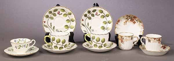 1059: A Group of Porcelain Demitasse Cups an
