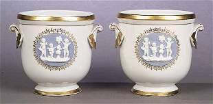 A Pair of Regency-Style Porcelain Jard