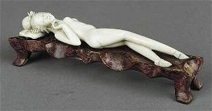 A Chinese Carved Ivory Doctor's Lady