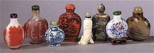 A Collection of Eight Snuff Bottles