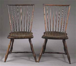 A Pair of Connecticut Windsor Chairs