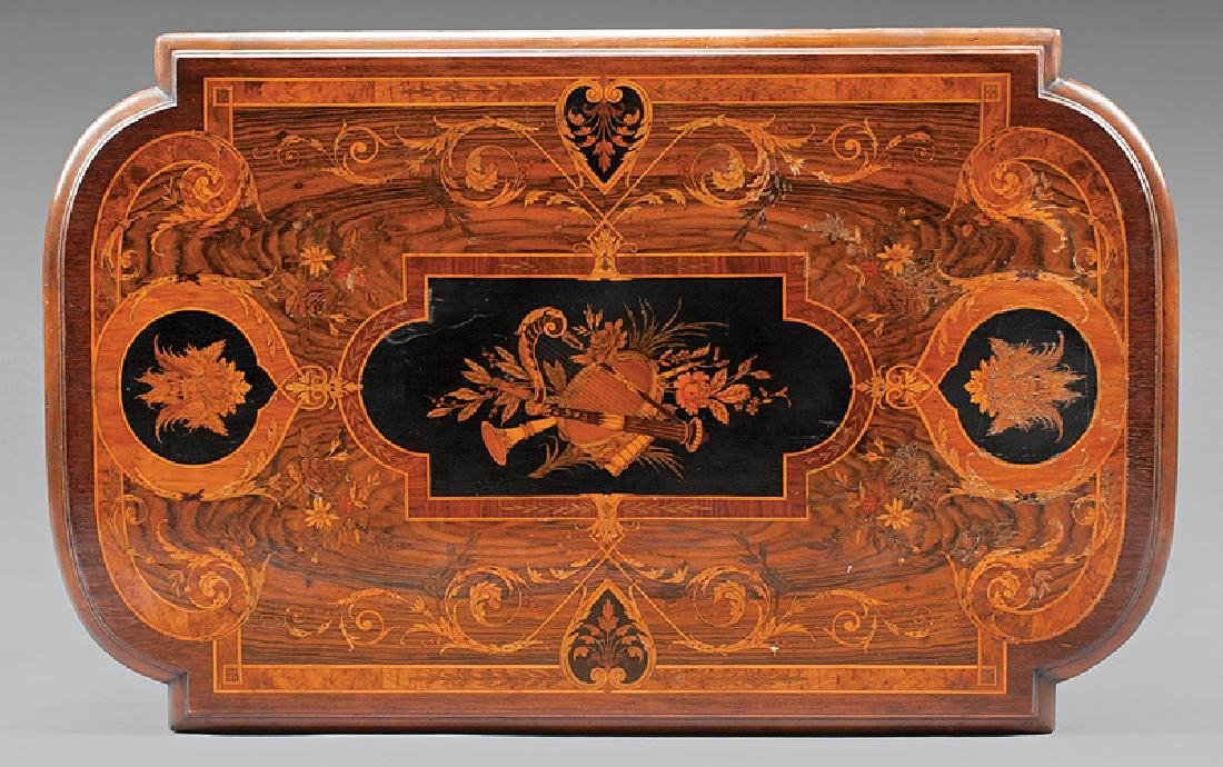 Bronze-Mounted and Inlaid Rosewood Center Table - 2