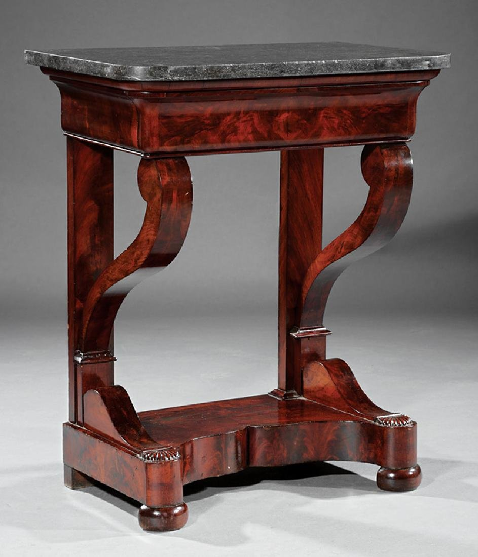 Louis Philippe Figured Mahogany Console