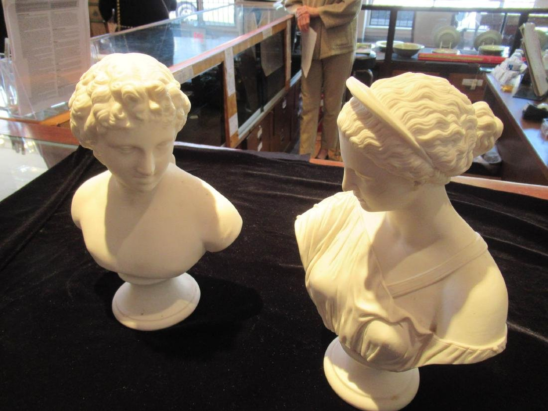 Parian Busts of Apollo and Diana - 2