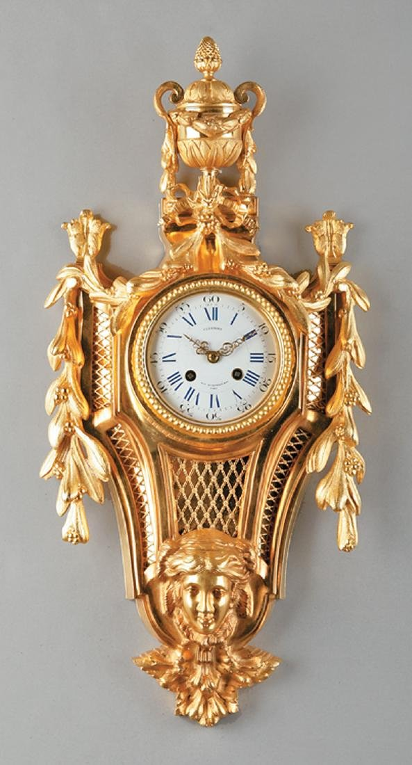 Louis XV-Style Gilded Cartel Clock