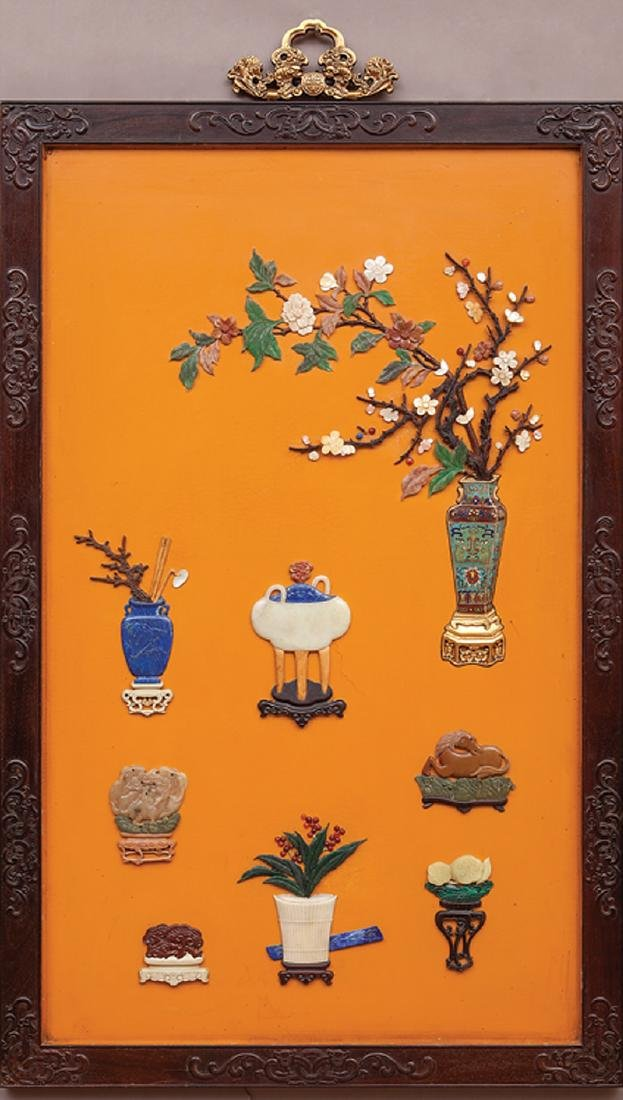 Chinese Inset Harwood Wall Panel