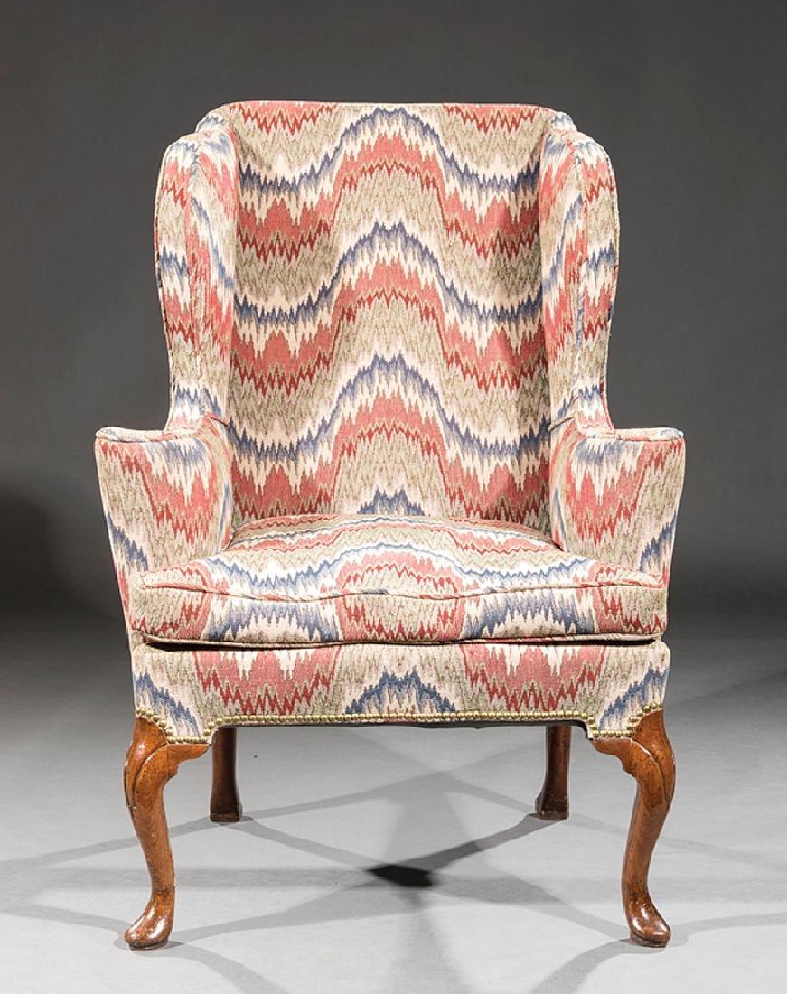 George III Walnut Wing Chair - 2