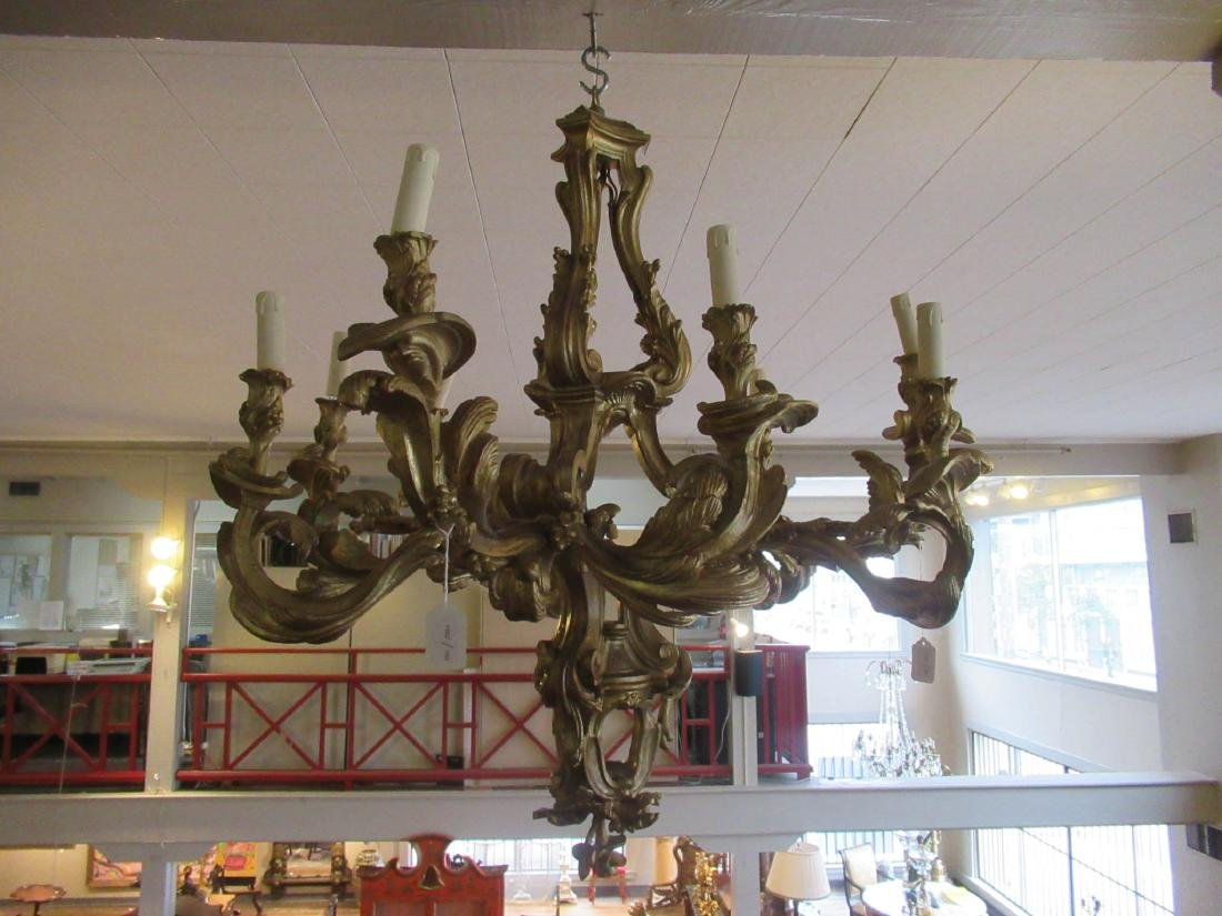 Louis XV-Style Carved and Gilt Chandelier - 2