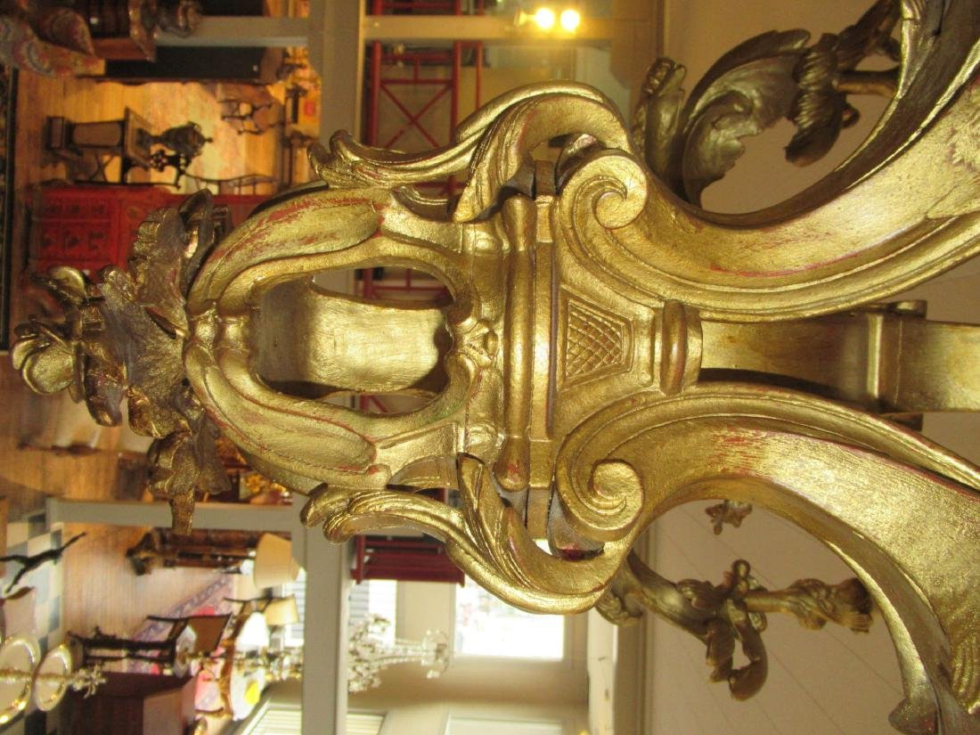 Louis XV-Style Carved and Gilt Chandelier - 7