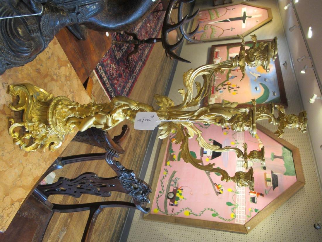 Louis XV-Style Gilt Bronze Figural Candelabra - 3