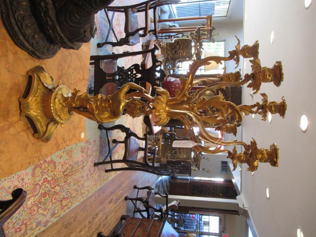 Louis XV-Style Gilt Bronze Figural Candelabra - 6
