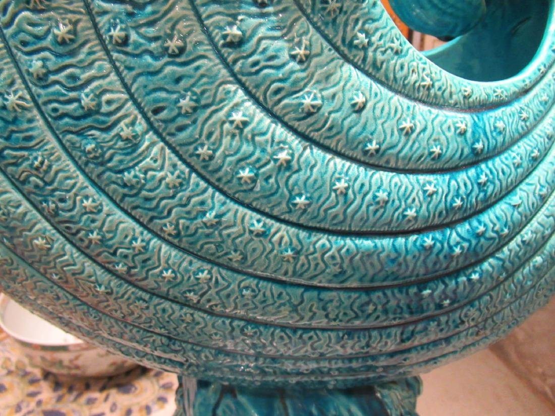 Burmantofts Blue Faience Jardiniere and Stand - 6