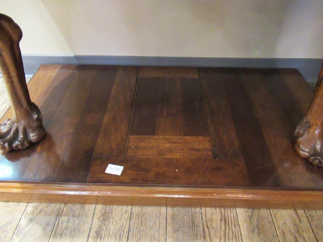 Antique Continental Carved Walnut Console Table - 4