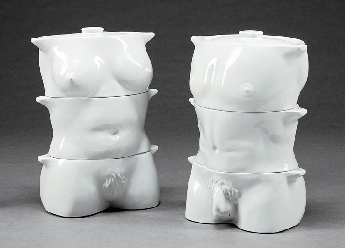 Art Moderne-Style Porcelain Covered Tureens
