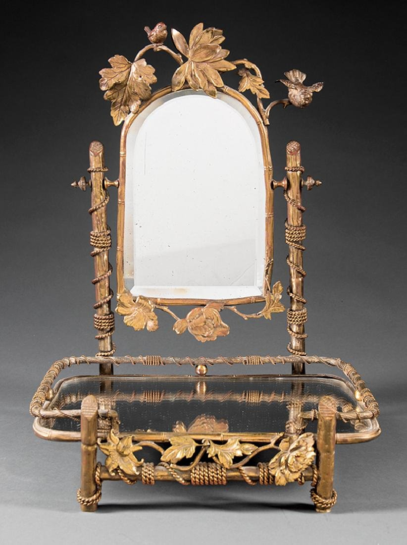 Beaux Arts Brass Dressing Mirror