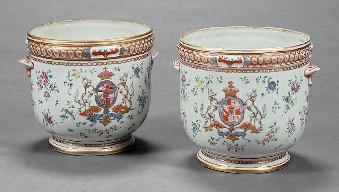 Export-Style Famille Rose Porcelain Cachepots