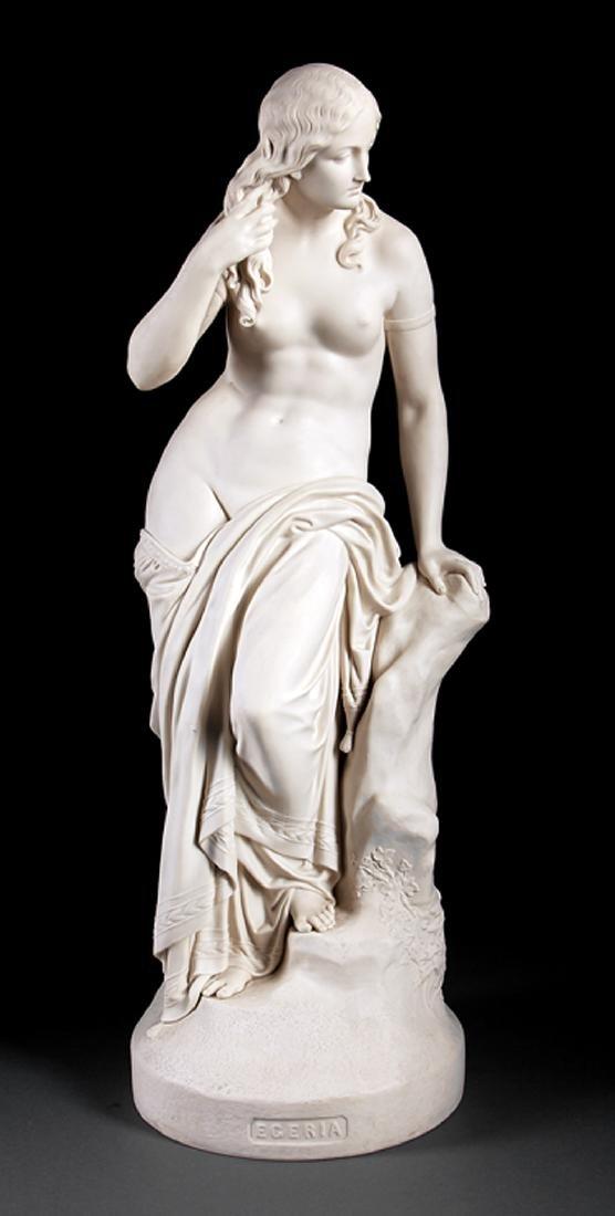 """Copeland Parian Figure of """"Egeria"""""""