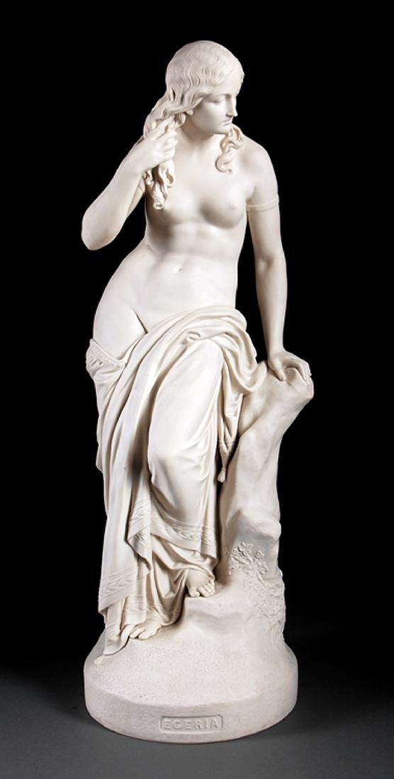 "Copeland Parian Figure of ""Egeria"""