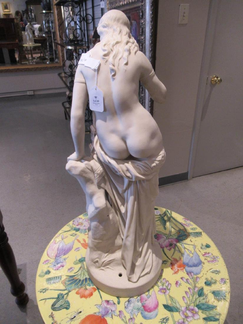 "Copeland Parian Figure of ""Egeria"" - 4"