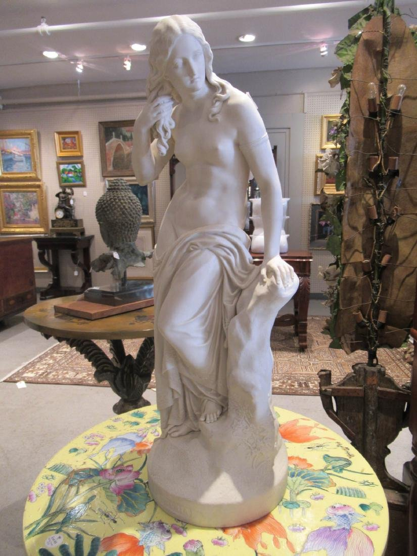 "Copeland Parian Figure of ""Egeria"" - 8"
