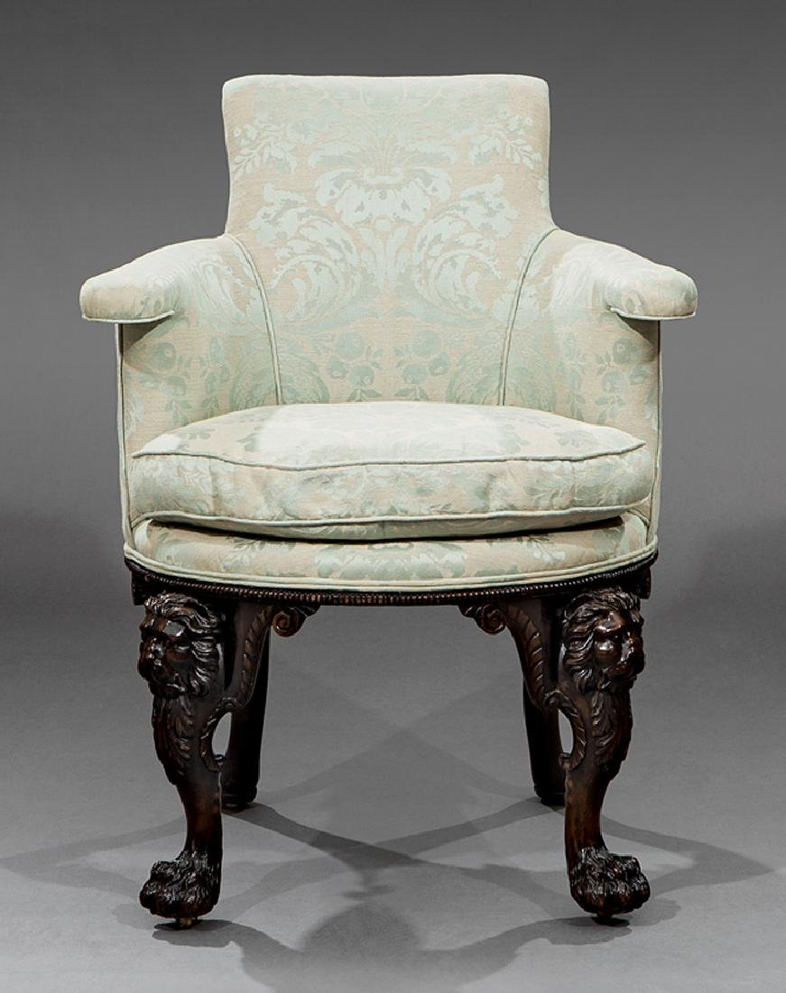 George II Highly Carved Mahogany Elbow Chairs - 2