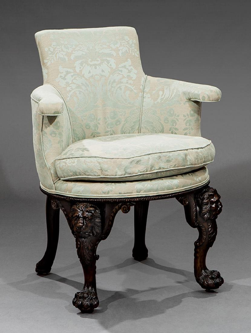 George II Highly Carved Mahogany Elbow Chairs - 3