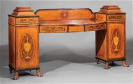 Mahogany and Satinwood Inlaid Sideboard