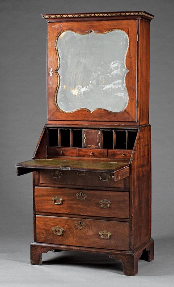 George III Carved and Parcel Gilt Mahogany Bureau - 2