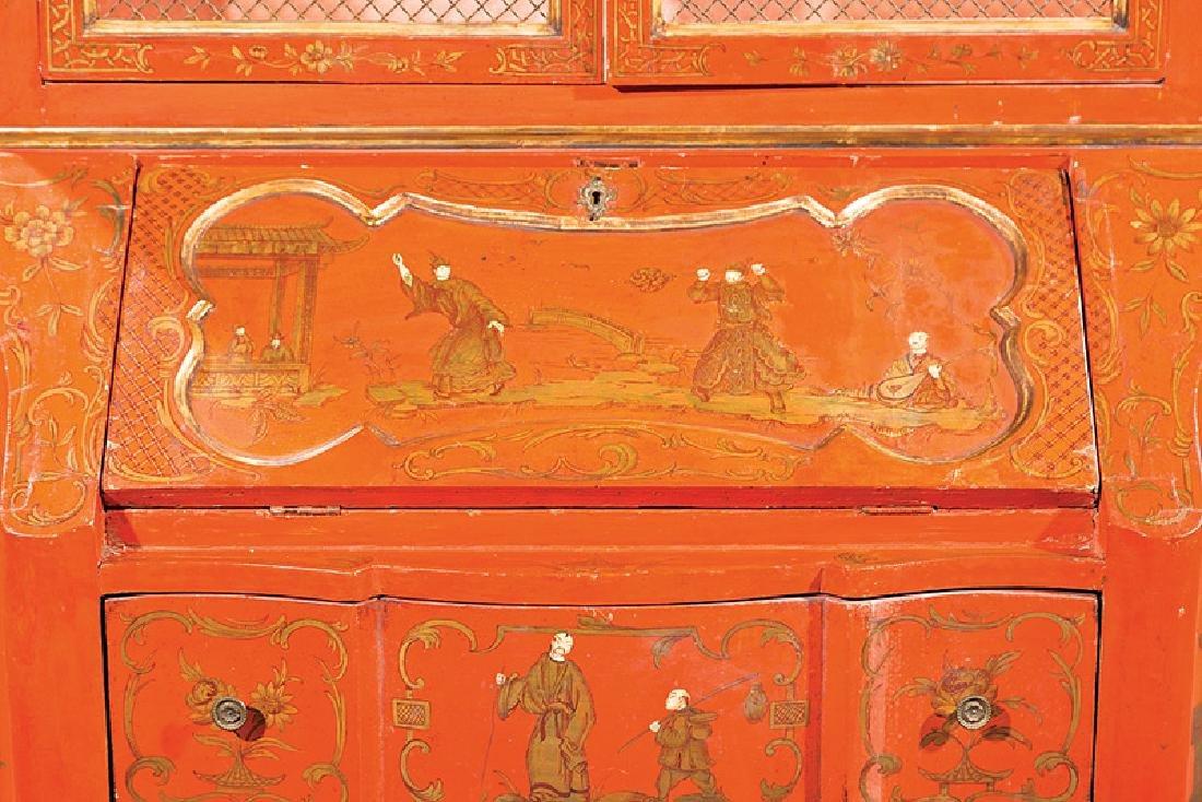 Italian Painted, Parcel Gilt Secretary Bookcase - 4
