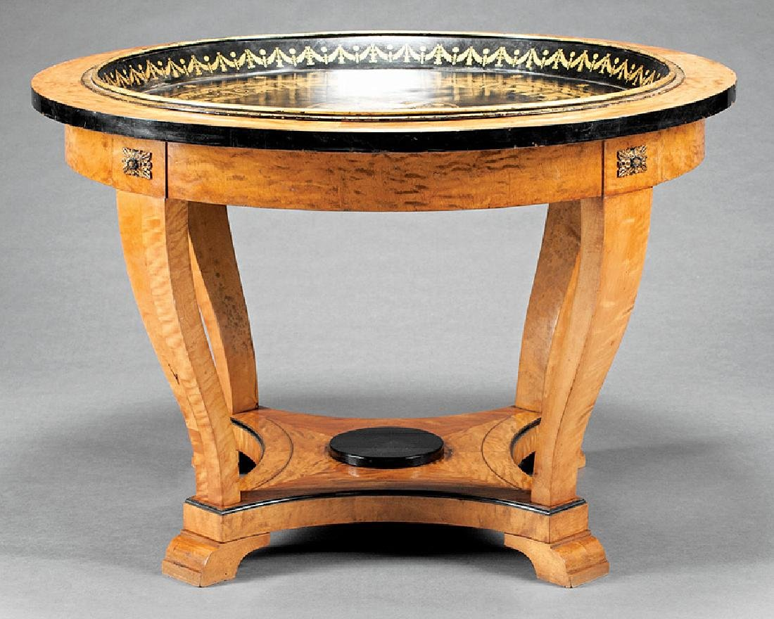Parcel Ebonized and Birch Center Table - 3