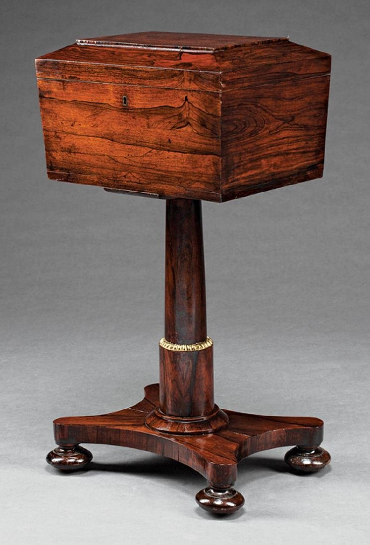 William IV Rosewood Sarcophagus-Form Teapoy