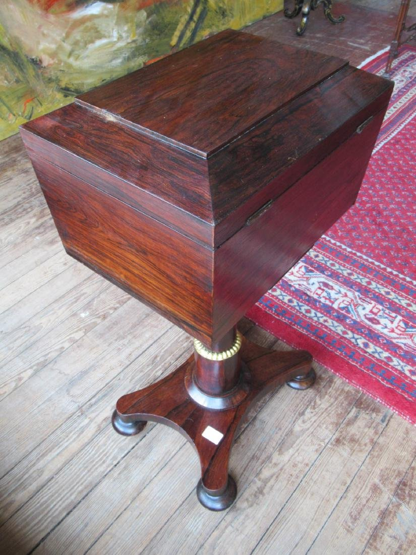 William IV Rosewood Sarcophagus-Form Teapoy - 4