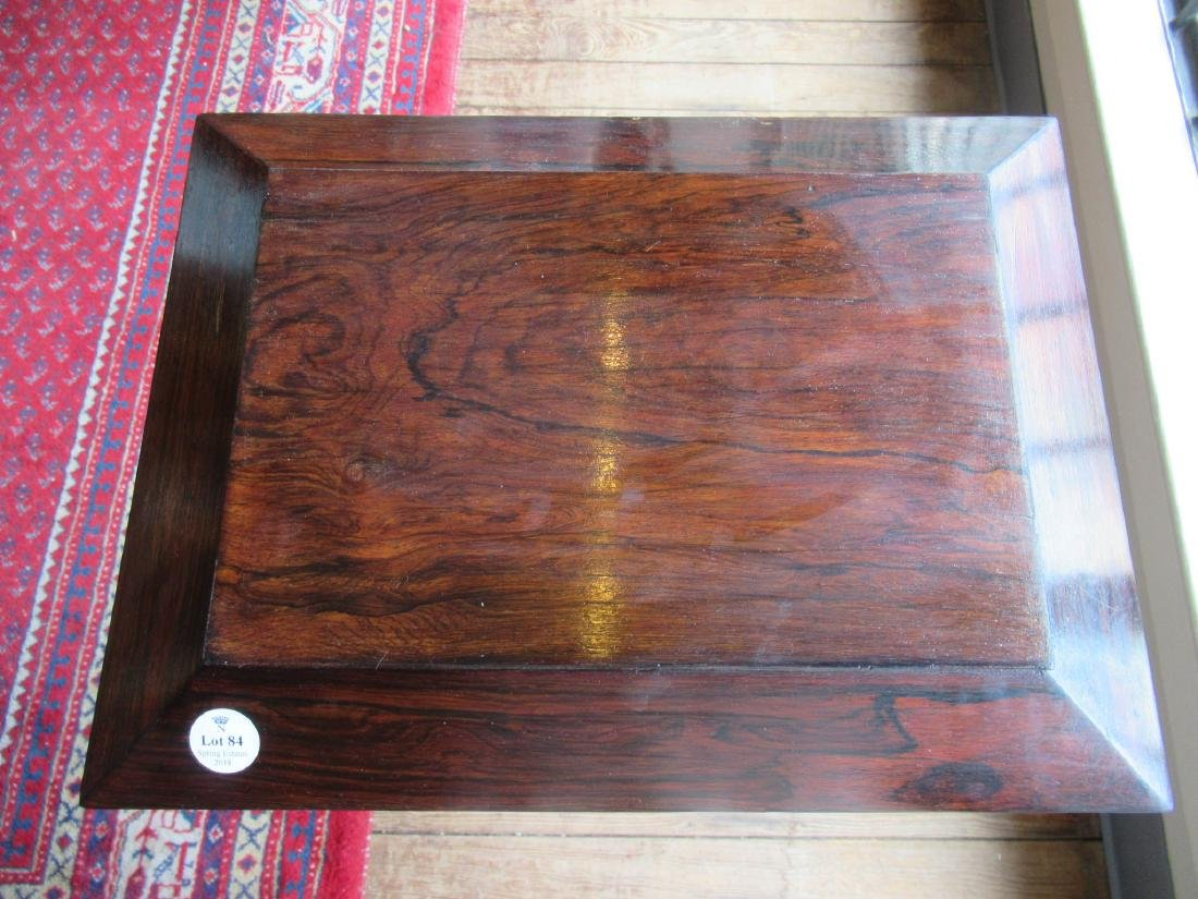 William IV Rosewood Sarcophagus-Form Teapoy - 6