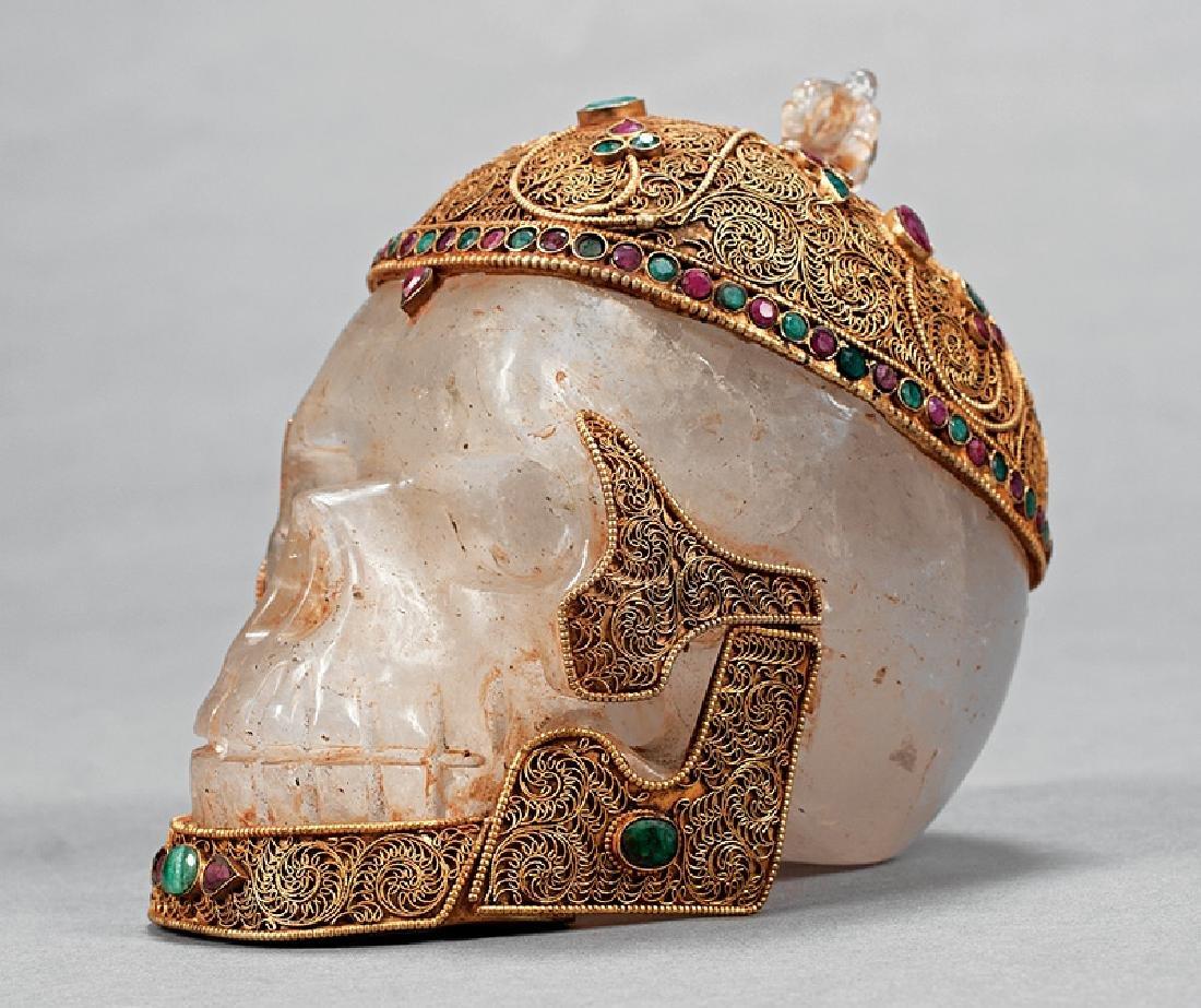 Tibetan or Nepalese Rock Crystal Skull