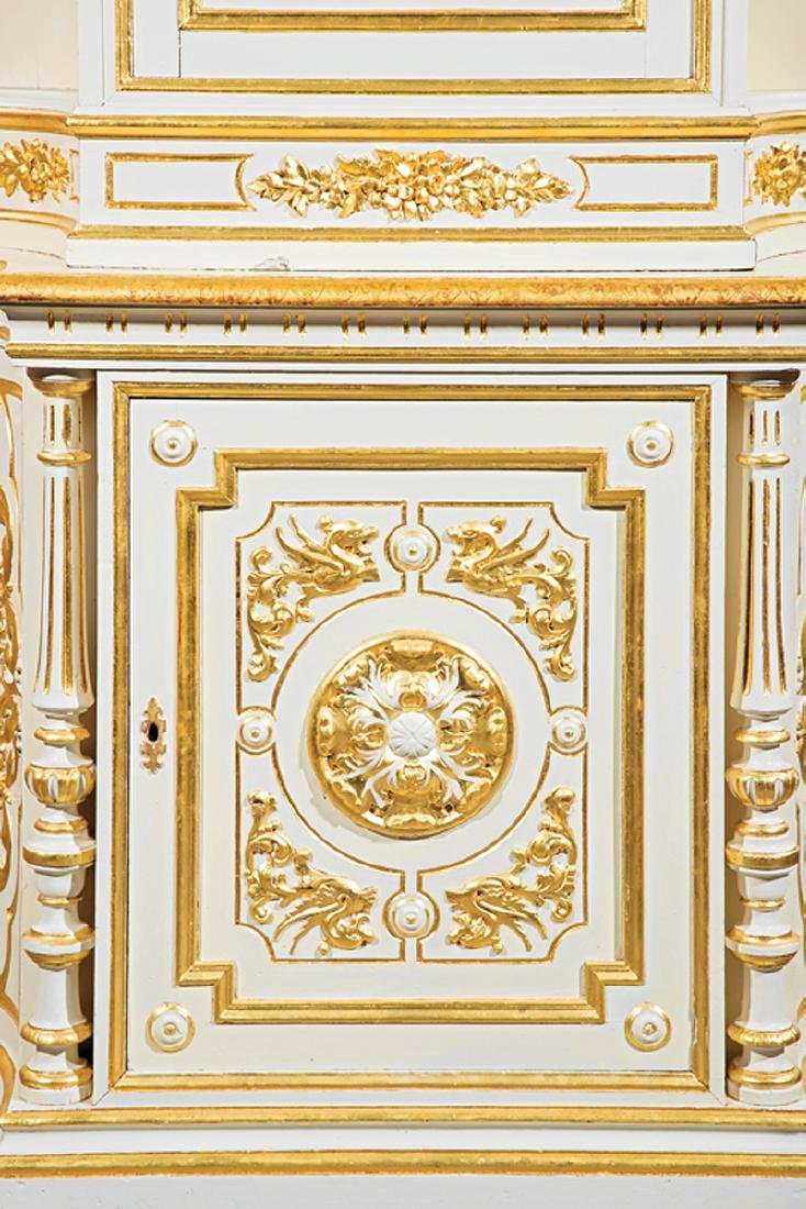 Carved and Gilt Decorated Creme Peinte Cabinet - 2