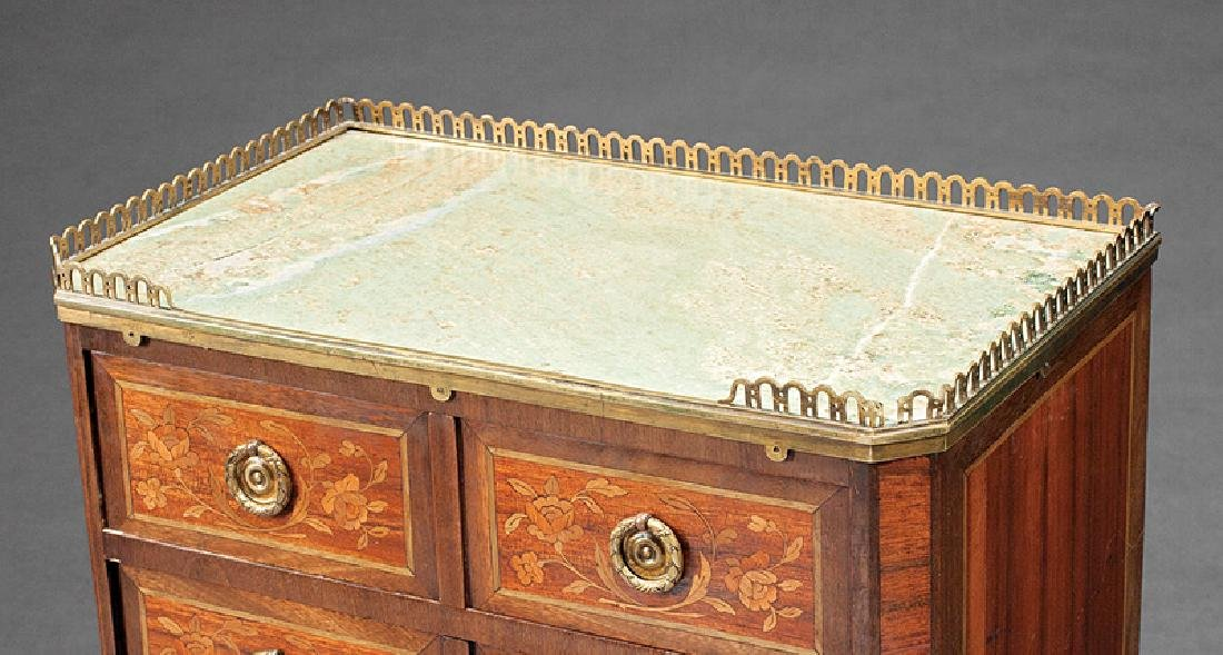 French Inlaid Mahogany, Rosewood Petite Commode - 2