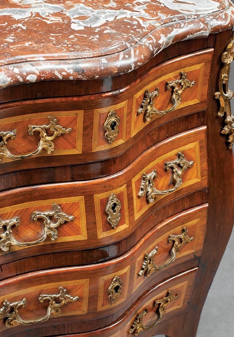 Bronze-Mounted Parquetry Petite Commode - 2