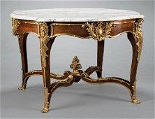 Bronze-Mounted Mahogany Center Table
