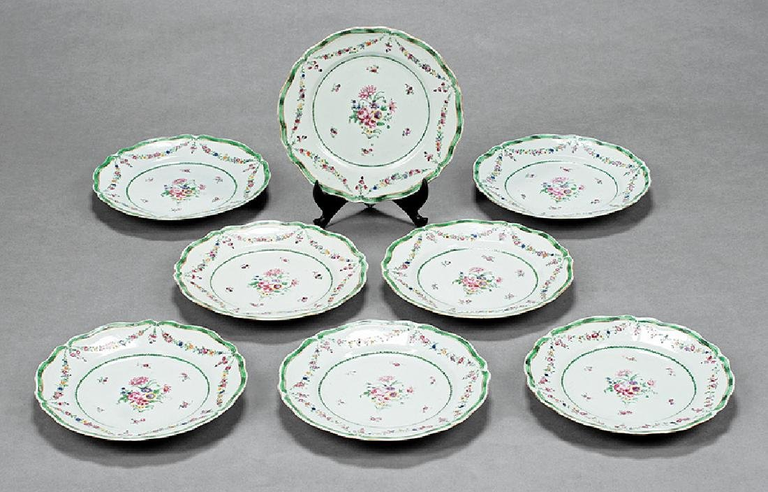 Chinese Export Famille Rose Porcelain Plates