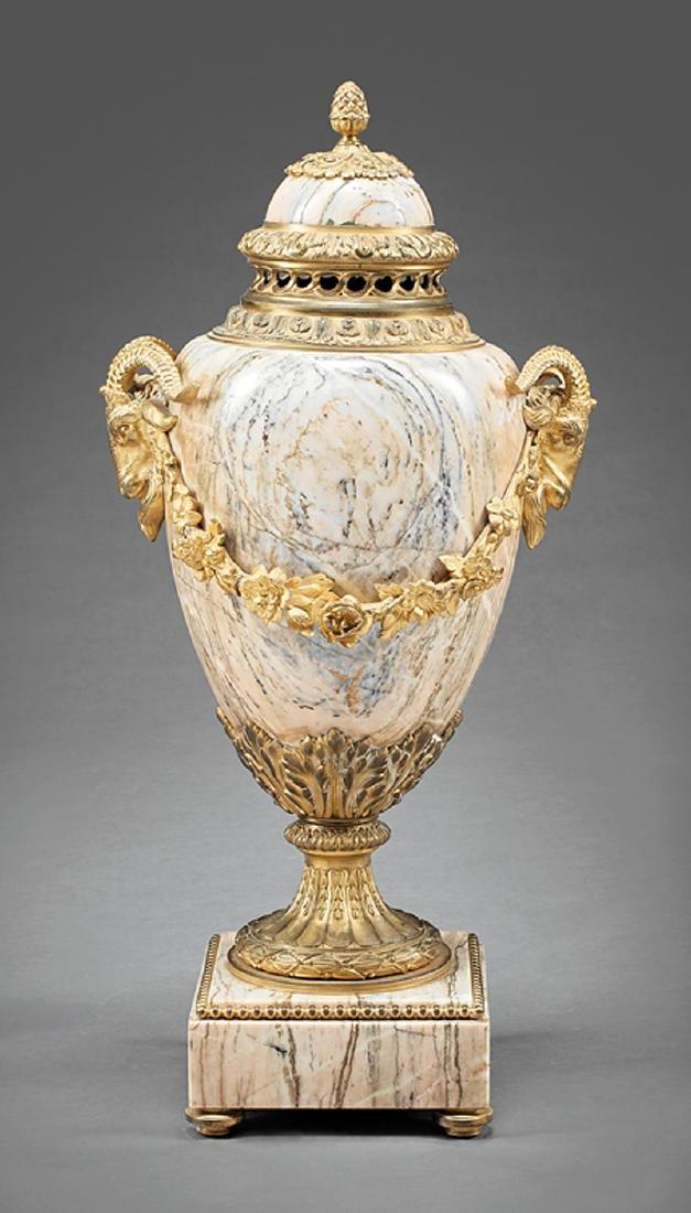 Louis XVI-Style Gilt Bronze-Mounted Cassolette