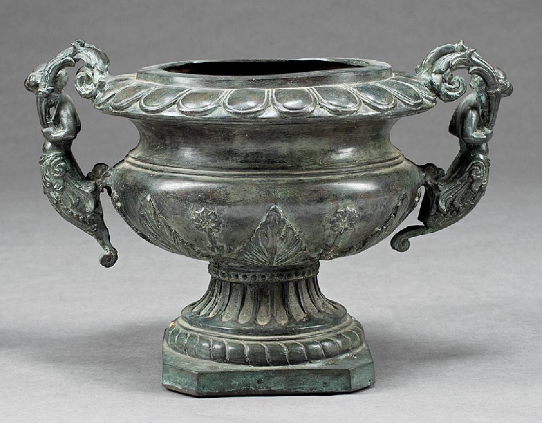 Tivolian-Style Patinated Bronze Urn