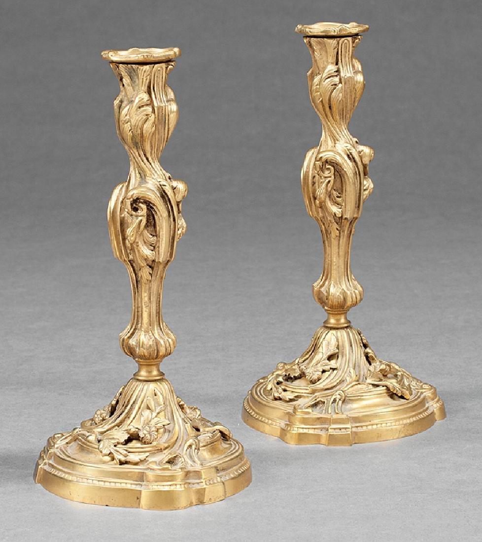 Louis Philippe Gilt Bronze Candlesticks