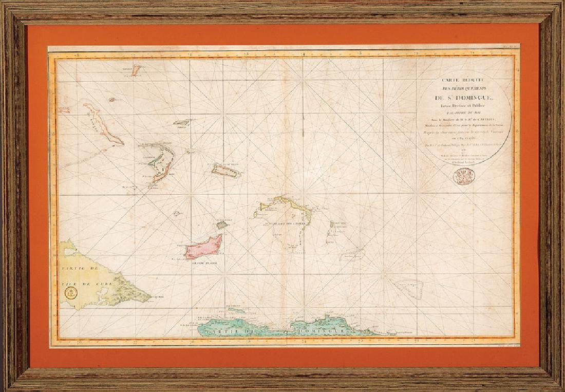 French Caribbean Sea Chart 1878