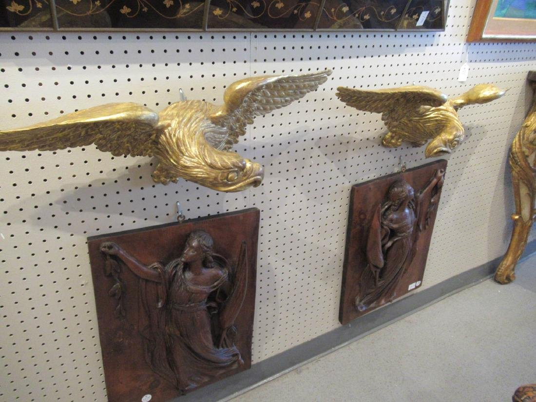 American Carved Giltwood Spreadwinged Eagles - 2