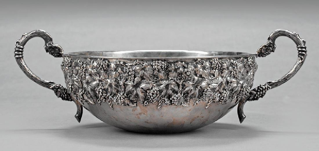 Portuguese Sterling Silver Punchbowl