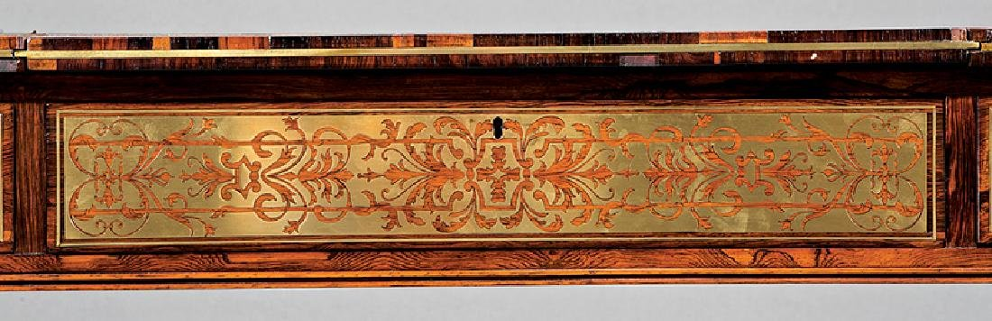Regency Brass Inlaid Rosewood Games Table - 7