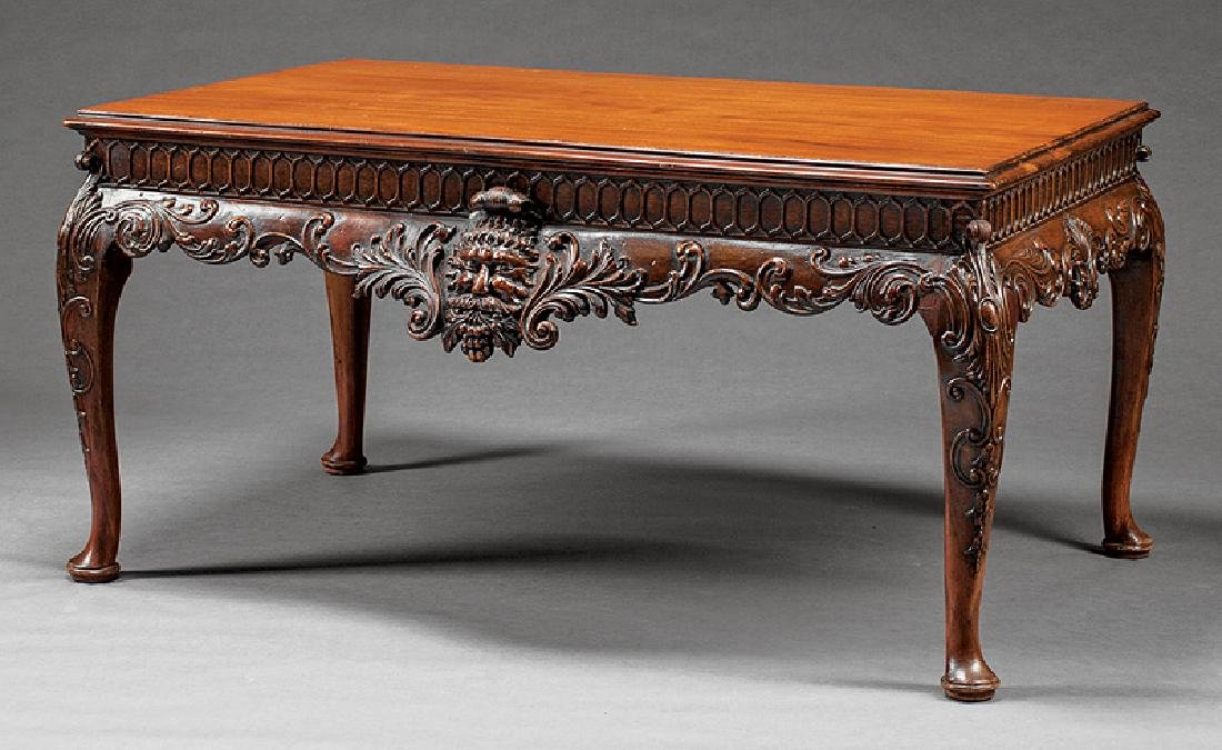 Chippendale Carved Mahogany Low Table