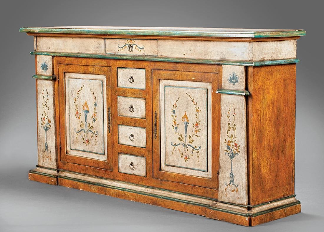 Italian Polychrome Painted Cabinet